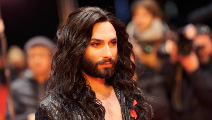 FILE PHOTO: Pop recording artist Conchita Wurst arrives for the awards ceremony of the 67th Berlinale International Film Festival in Berlin
